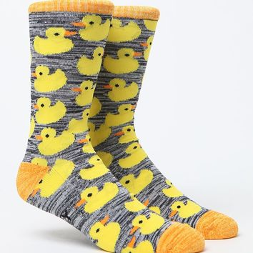 """New"" Socks Lucky Ducky Crew Socks - Mens Socks - Yellow/Blue - One"