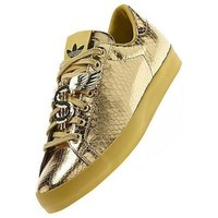Adidas Jeremy Scott Rod Laver GOLD MONEY SIGN Shoes Size 5.5 us D65861