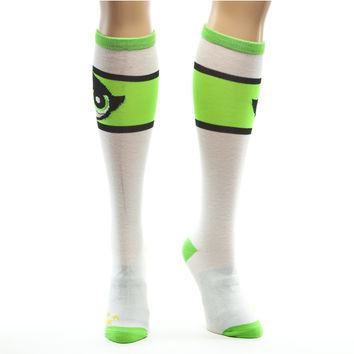 Powerpuff Girls Green Stripe Knee High Socks