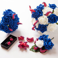 Alternative wedding bridal flowers with a twist- beautifully hand made tentacle flowers