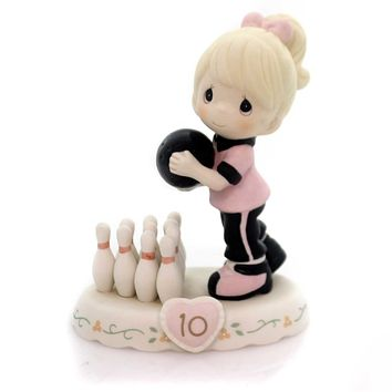 Precious Moments GROWING IN GRACE AGE 10. Bowling Ball Pins  Age 10 154037