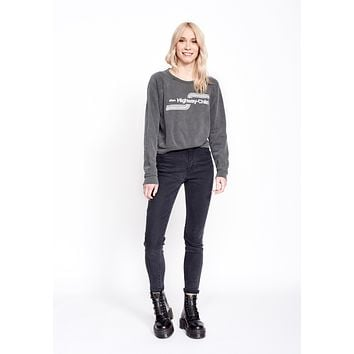Highway Child Cropped Women's Sweatshirt