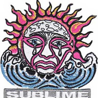 Sublime Iron-On Patch Weeping Sun Logo