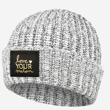 Love Your Melon Charcoal Speckled Gold Foil Cuffed Beanie