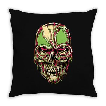zombie look Throw Pillow