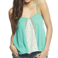 Crochet Inset Swing Tank | Wet Seal