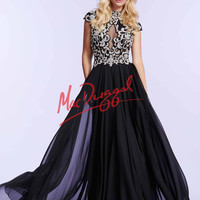 Mac Duggal Cap Sleeve Prom Dress 10037M