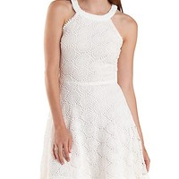 RACER FRONT CROCHET SKATER DRESS