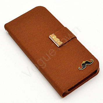iPhone Wallet, iPhone 4 Case, iPhone 5 Case, iPhone 4s Wallet, iPhone 5s Wallet, Fabric Wallet, Wristlet Wallet, Brown Studded Wallet