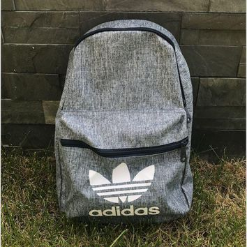 Gray Adidas Sports School Bag Travel Bag Laptop Backpack Daypack