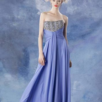 Theia - Strapless Embellished Dress 881666
