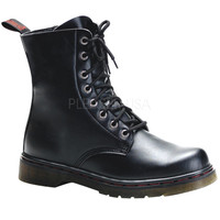 Disorder Eight Hole Black Vegan Boots