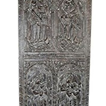 Vintage Kamasutra Love Postures Hand Carved Panel Wall hanging Barn Door Bedroom Decor