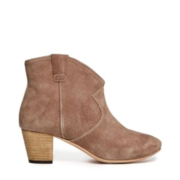 Ravel Suede Heeled Western Ankle Boots