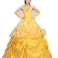 Princess belle costume adult princess belle costume beauty and the beast costume cosplay halloween costumes for women dress