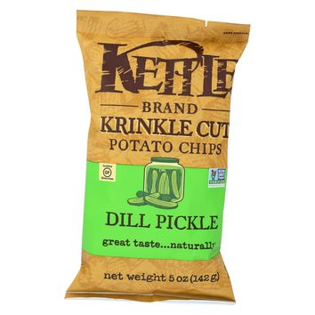 Kettle Brand Krinkle Cut Potato Chips - Dill Pickle - 5 Ounce