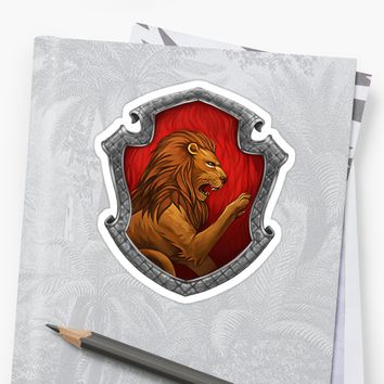 'The Gryffin' Sticker by lisabubbles