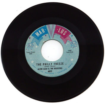 Vintage 60s Alvin Cash & The Registers The Philly Freeze 45 7-inch Single Record Vinyl