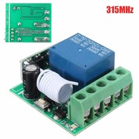 100M DC 12V 10A 1Ch Wireless Relay RF Remote Control Switch Heterodyne Receiver 315MHZ