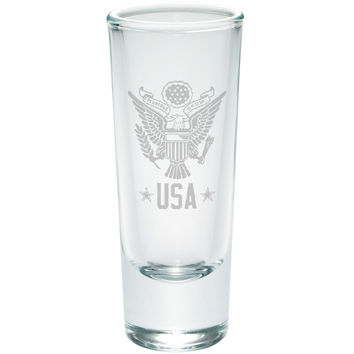 4th Of July USA Eagle Etched Shot Glass Shooter