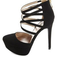 Pointed Toe Strappy D'Orsay High Heels by Charlotte Russe
