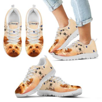 Cute Yorkshire Terrier Print Running Shoes For Kids- Free Shipping