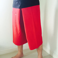 3/4 Cotton Fisherman Pants 2 Tone Casual 100% Cotton