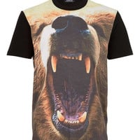 Black Bear Head Print T-Shirt - Men's T-shirts & Tanks - Clothing - TOPMAN USA