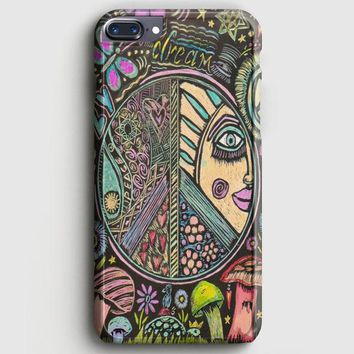 Hippie Scratch Board Mandala iPhone 8 Plus Case