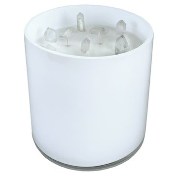Crystal Candle XL Clear Quartz White