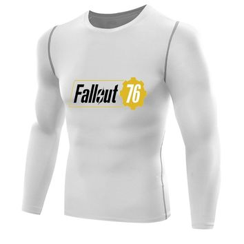 Game Fallout 76 T-shirt Mens Compression Shirts Quick Dry T-shirt long sleeves Fitness boys men Base Layer vault fallout 1 2 3 4