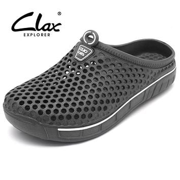 Clax Garden Clog Shoes For Men Quick Drying Summer Beach Slipper Flat Breathable Outdoor Sandals Male Gardening shoe