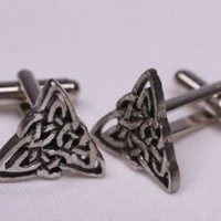Celtic knot triangle cufflinks by classic cufflinks