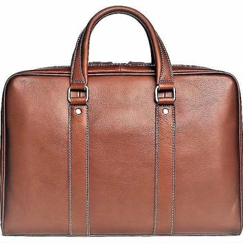 Handcrafted Full Grain Genuine Leather Business Briefcase Men Messenger Bag