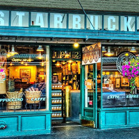 First Starbucks, Seattle Washington photo via virgothepoet