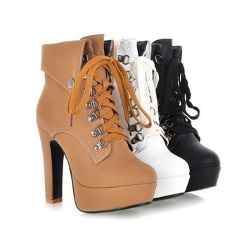 Women's City Slicker Lace Up Boots