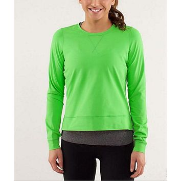 DCCKBA7 lululemon' Fashion Exercise Fitness Gym Yoga Run Sports Tops