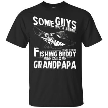 Mens Funny T-Shirt My Fishing Buddies Call Me Grandpapa Gift