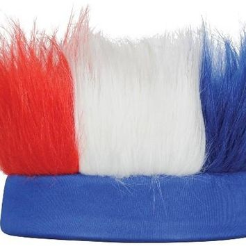 Hairy Headband - Red, White, Blue Case Pack 12