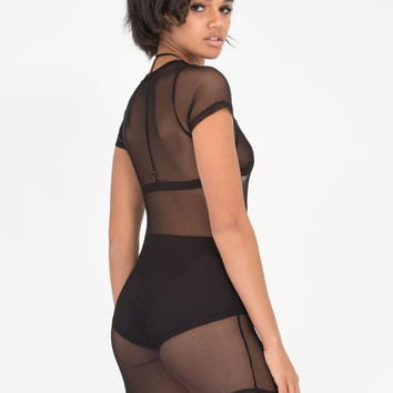 What's The Catch Sheer Fishnet Dress