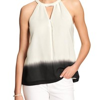 Banana Republic Womens Factory Dip Dyed Vee Cut Out Halter