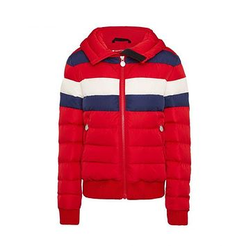 Perfect Moment - Kids' Padded Queenie Red Navy Snow White Jacket