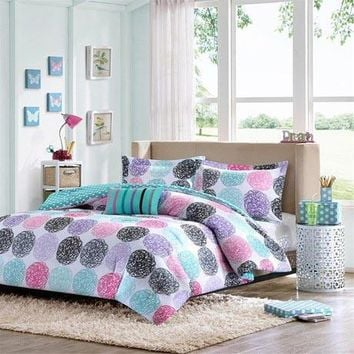 Carly Polyester Microfiber Printed Comforter Set - Bedding | Mi Zone