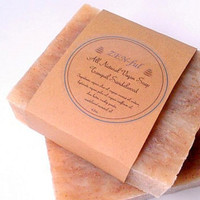 Soap Tranquil Sandalwood- Organic All Natural, Vegan Soap, Handmade Soap, Cold Pressed Soap