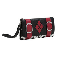 DC Comics Harley Quinn Double Buckle Flap Wallet