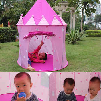 Portable Children Kids Play Tents Outdoor Garden Folding Toy Tent Pop Up Kids Girl Princess Castle Outdoor House Kids Tent