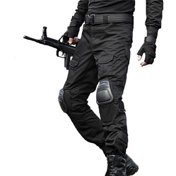 Tactical Pants Military Cargo Pants Men Camouflage Pantalon Frog Pants Knee Pads Work Trousers Army Hunter SWAT Combat Trousers