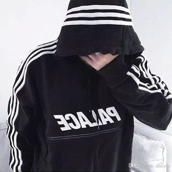Palace Sweatshirt Black Hip Hop Street 2017 Sweat Palace Hoodies Mens Skateboards Supremeat Hoodie Zipper Men Sudadera Hombre Pulo