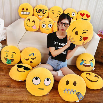 Smiley Face Pillow emoticons cushions smile emoji pad