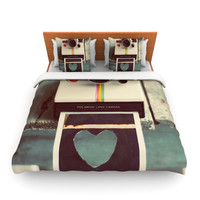 "Cristina Mitchell ""Polaroid Love"" Teal Camera Lightweight Duvet Cover"